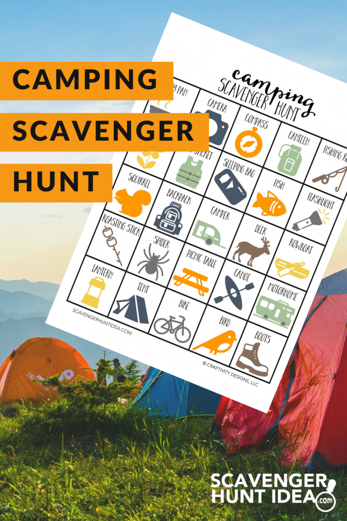 Camping Scavenger Hunt by ScavengerHuntIdea.com