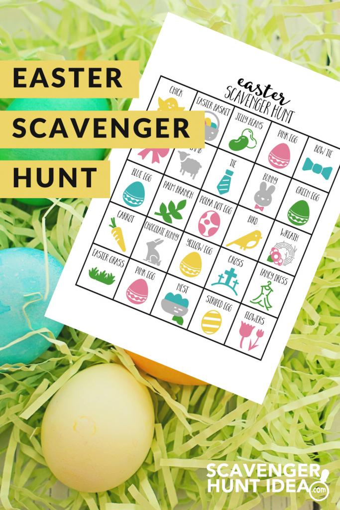 Easter Scavenger Hunt by ScavengerHuntIdea.com