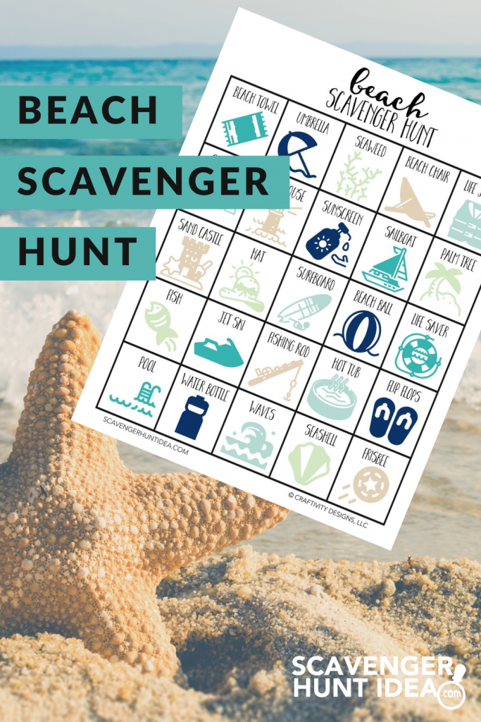 Beach Scavenger Hunt with Starfish in Background