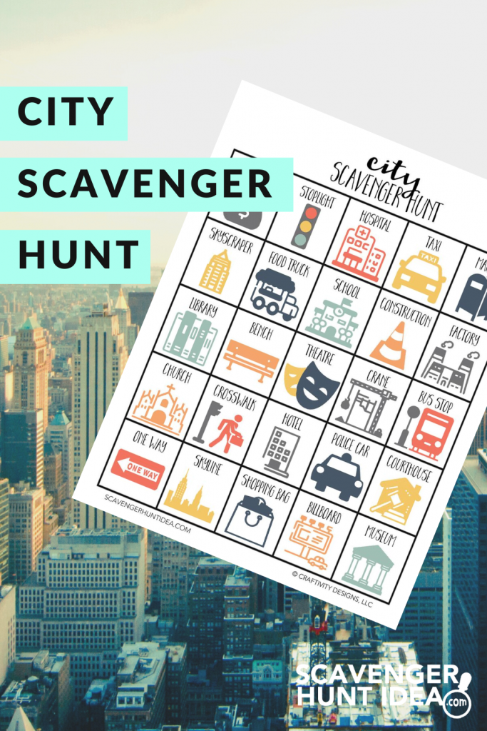 City Scavenger Hunt with Skyscrapers in Background