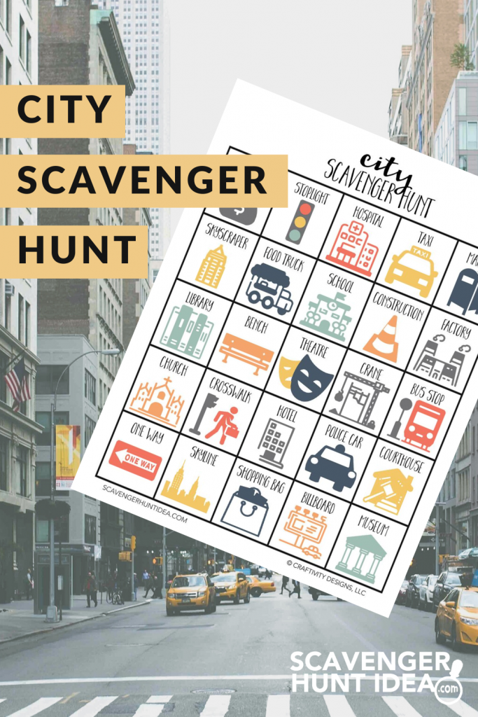 City Scavenger Hunt with City Street in Background