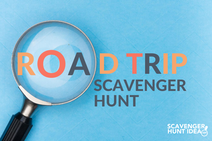 Road Trip Scavenger Hunt with Magnifying Glass