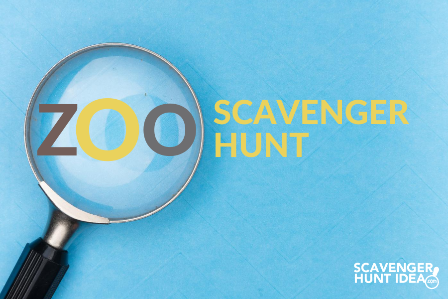 Zoo Scavenger Hunt with Magnifying Glass