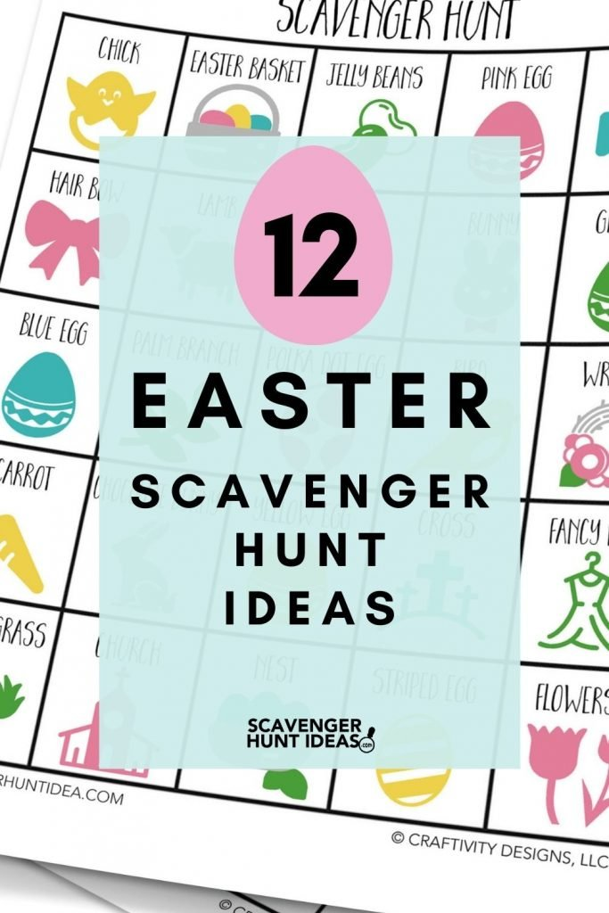 12 Easter Scavenger Hunt Ideas for basket stuffers, gifts, and games
